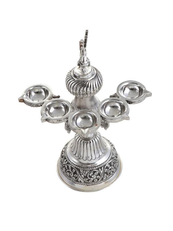 Silver Panch Aarti deepak 5