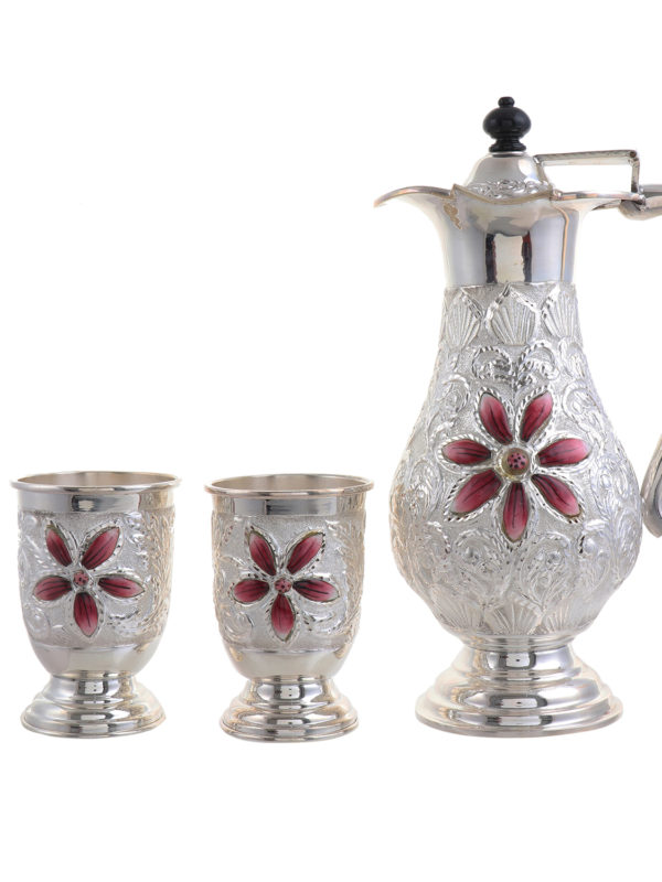 Silver Jug with glass set 16