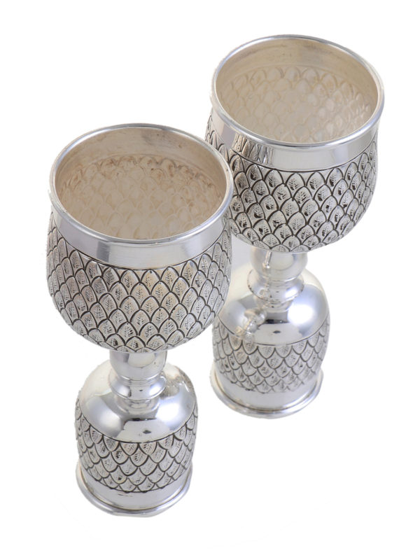 Antique style Solid silver wine glass 2