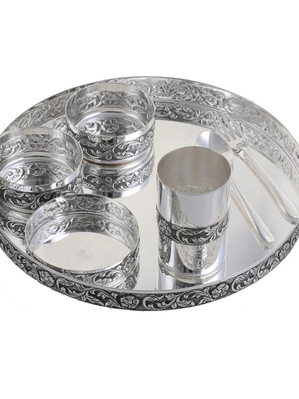 Silver Thali Set 14