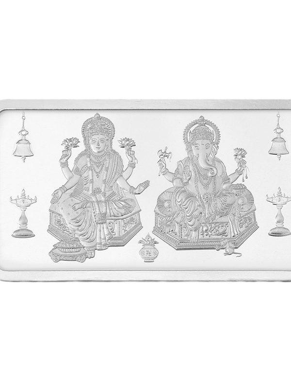 10g Silver Bar (999) - Lakshmi & Ganesha 4
