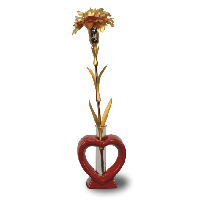 Carnation Rose with Stand