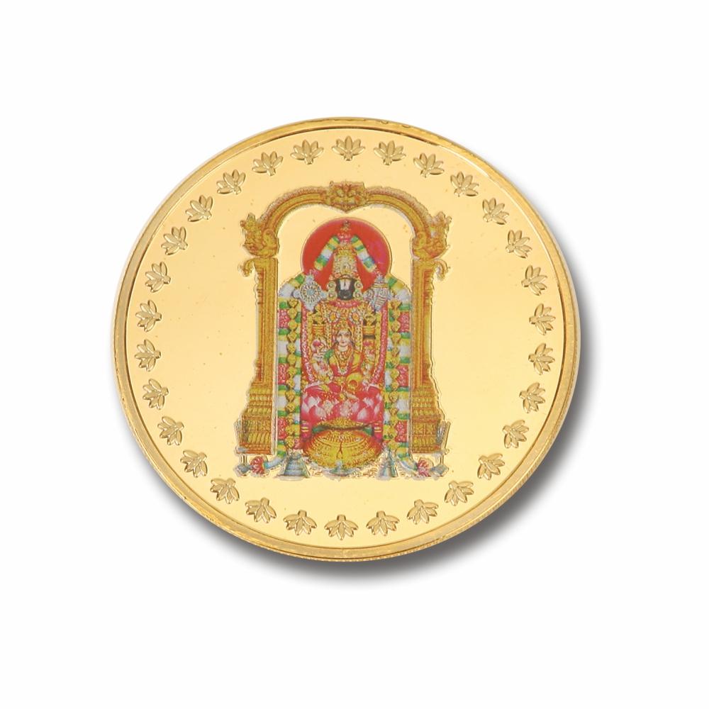 Laxmi with Balaji Coin